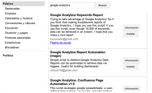 Api analytics en google docs