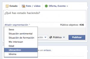 Segmentar plucación Facebook