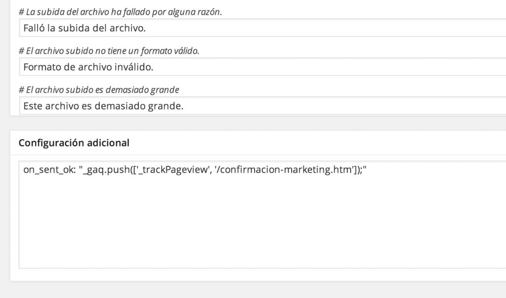 Añadir Track en WordPress