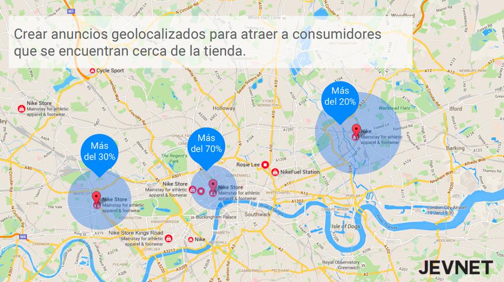 Geolocalización anuncios Adwords